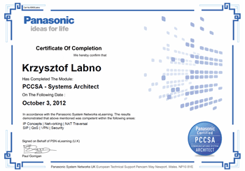 ULTRAPHON - Krzysztof Labno PCCSA - Systems Architect - Advanced Networking: IP Concepts | Networking | NAT Traversal SIP | QoS | VPN | Security
