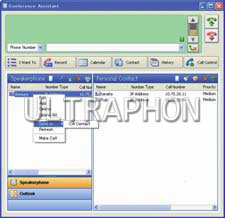 Okno aplikacji Phone Manager Application KX-NT700